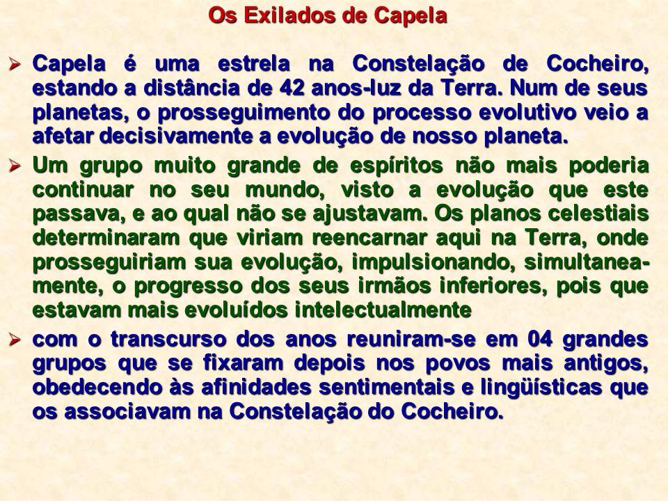 Os Exilados de Capela Capela é uma estrela na Constelação de Cocheiro, estando a distância de 42 anos-luz da Terra. Num de seus planetas, o prosseguim