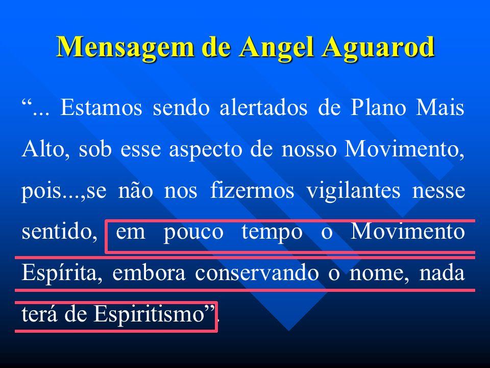 Mensagem de Angel Aguarod... Estamos sendo alertados de Plano Mais Alto, sob esse aspecto de nosso Movimento, pois...,se não nos fizermos vigilantes n