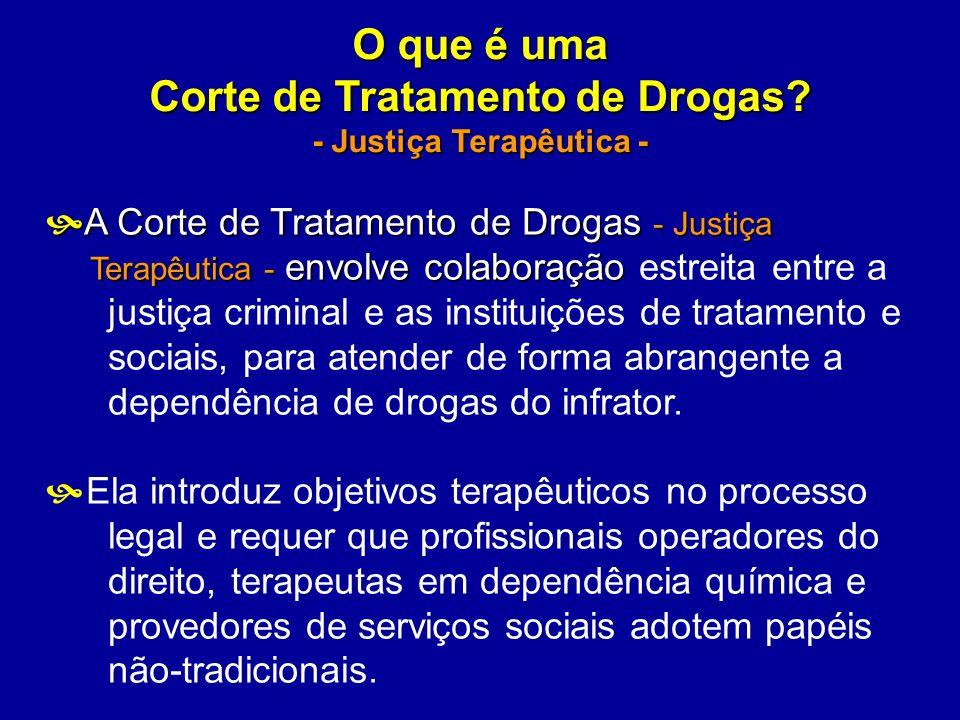 O que é uma Corte de Tratamento de Drogas? - Justiça Terapêutica - A Corte de Tratamento de Drogas - Justiça A Corte de Tratamento de Drogas - Justiça