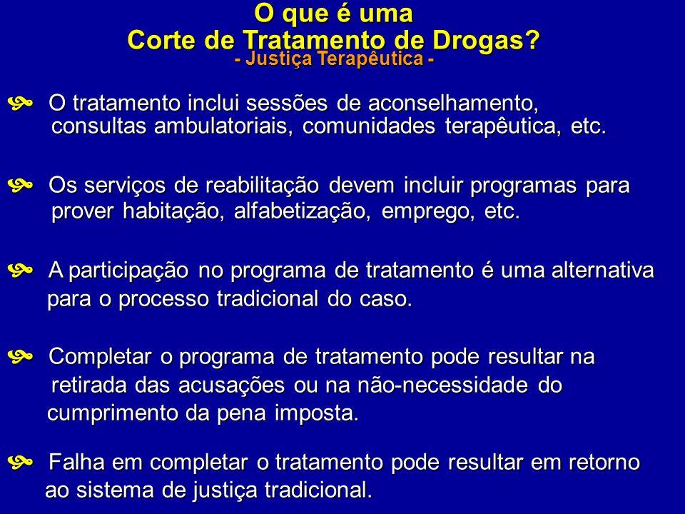 O que é uma Corte de Tratamento de Drogas? - Justiça Terapêutica - O tratamento inclui sessões de aconselhamento, O tratamento inclui sessões de acons