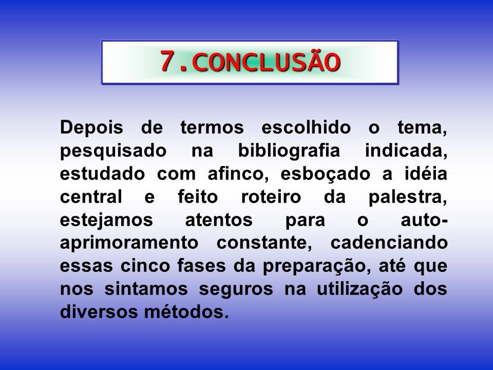6. ROTEIRO DE UMA PALESTRA Título: ________________________________________________________ Idéia Central: Introdução: Etimologia. Resumo Histórico. C