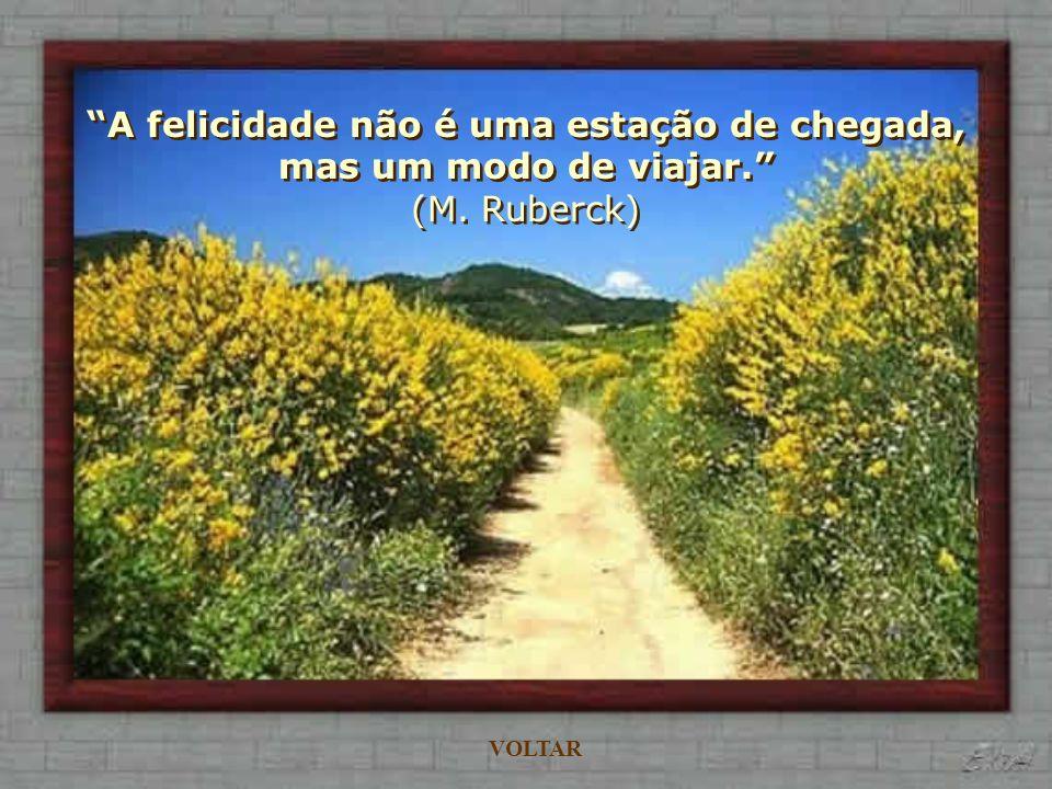 Se alguém não encontra a felicidade em si mesmo, é inútil que a procure noutro lugar. (La Rochefoucald) VOLTAR