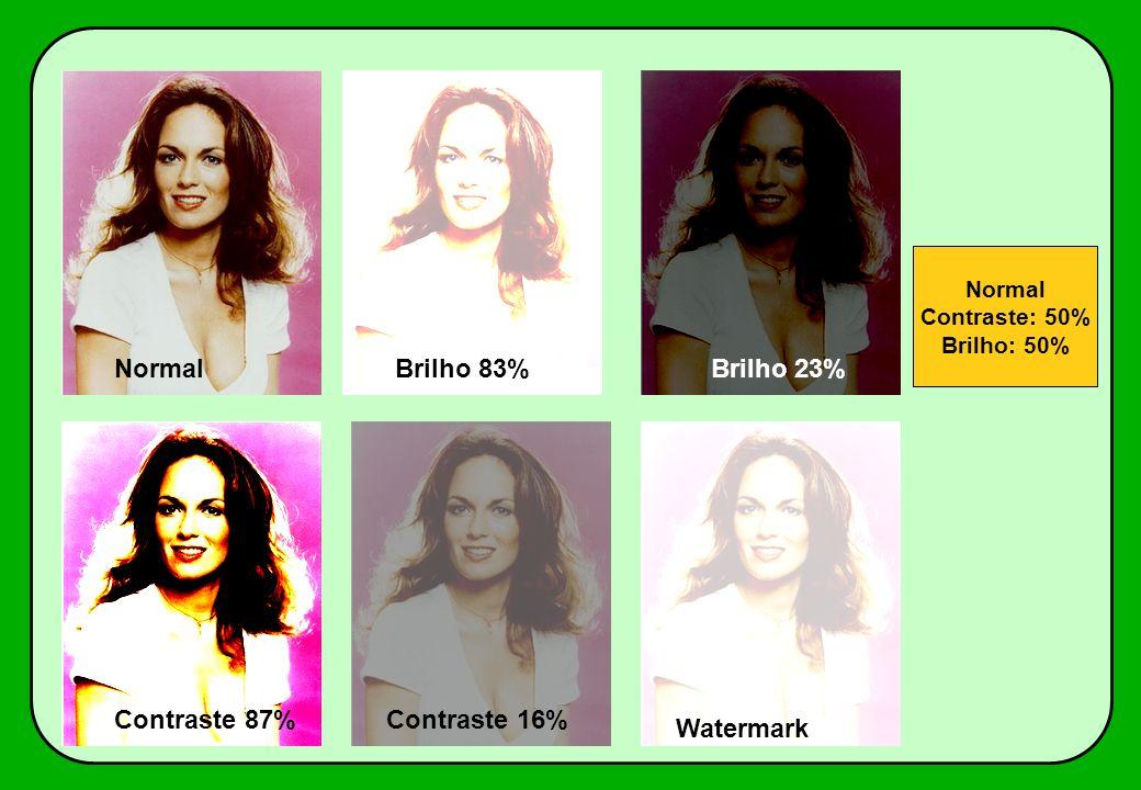 Watermark Contraste 16%Contraste 87% Brilho 23%Brilho 83%Normal Contraste: 50% Brilho: 50%