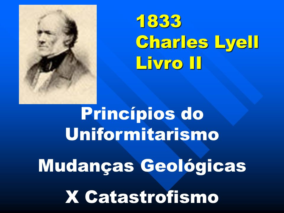 1833 Charles Lyell Livro II Princípios do Uniformitarismo Mudanças Geológicas X Catastrofismo