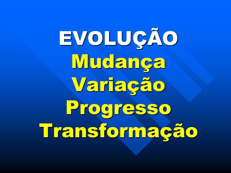 EVOLUÇÃO Mudança Variação Progresso Transformação