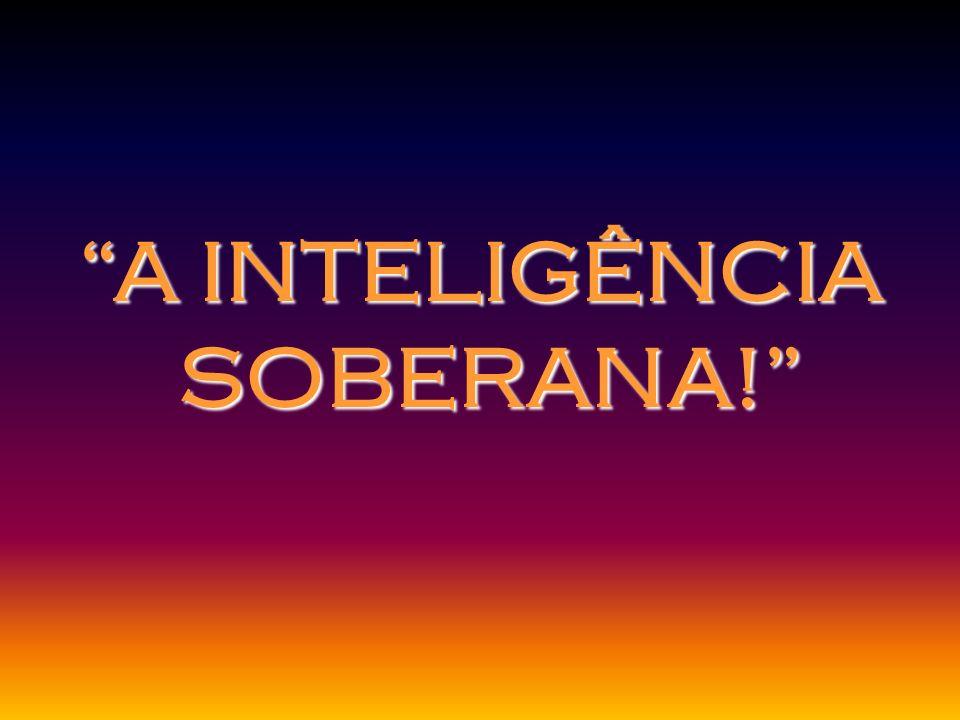 A INTELIGÊNCIA SOBERANA! SOBERANA!