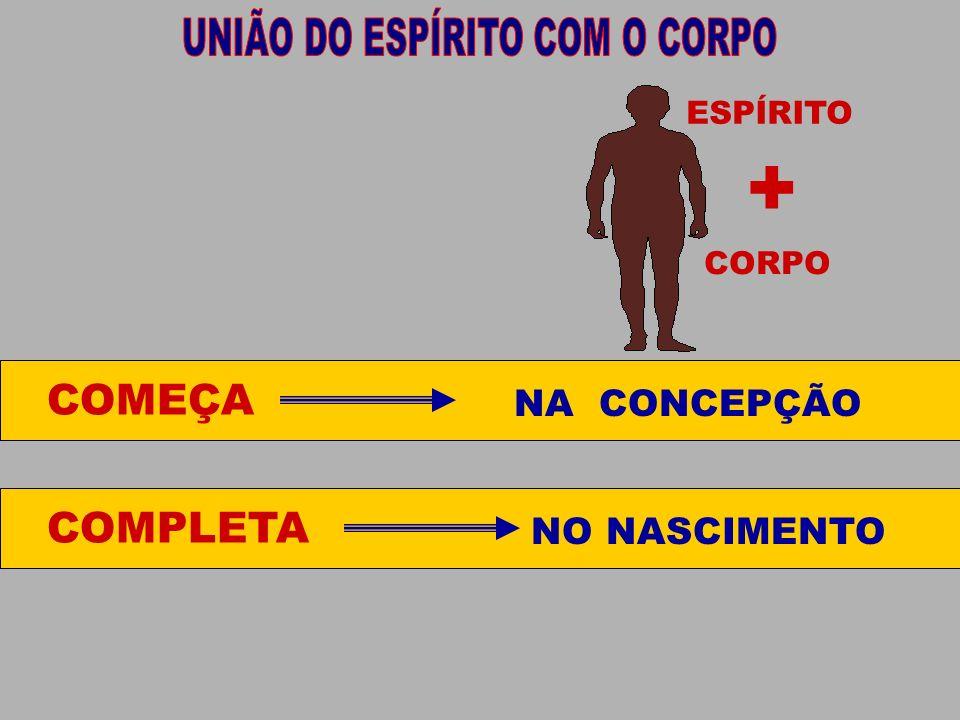 CORPO ESPÍRITO COMEÇA NA CONCEPÇÃO COMPLETA NO NASCIMENTO +