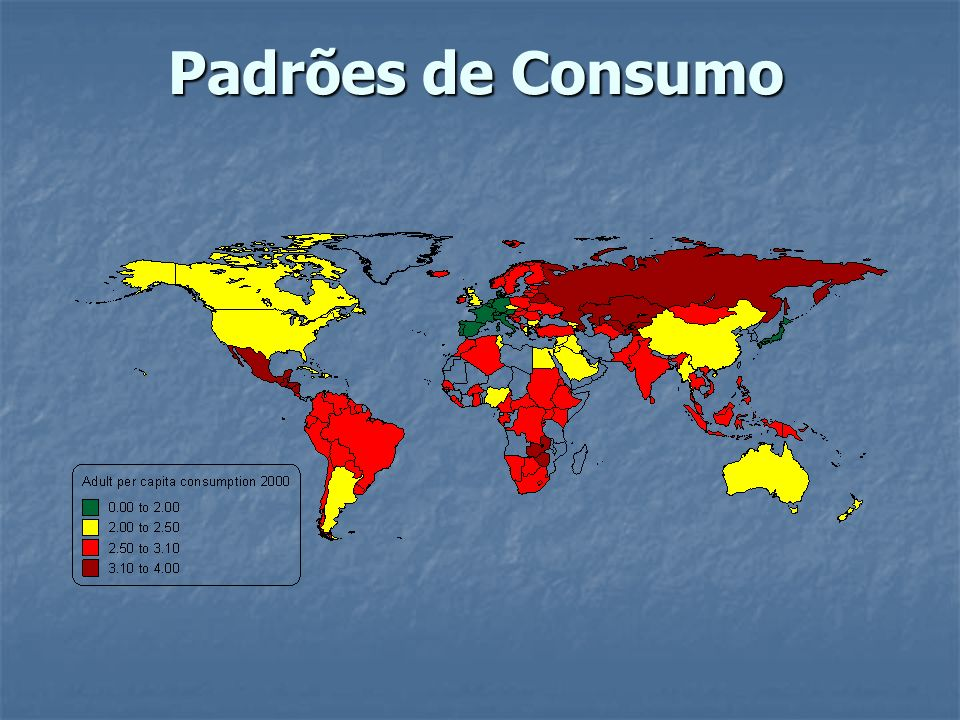 Principais fatores de risco para doença e mortalidade nas Americas % de todas as DALYS Alta MortalidadeBaixa Mortalidade Alcool5.5% Alcool11.4% Tabaco13.3% Baixo Peso5.3%4.2%Alcool7.8% Sexo Inseguro 4.8%Pressão arterial4.0% Sobrepeso7.5% Falta saneamento 4.3%Tabaco3.7%Pressão arterial6.0% Sobrepeso2.4% Colestero l 2.3%Colesterol5.3% Pressão arterial2.2%Sexo Inseguro2.1% Pouca fruta/vegetais 2.9% Deficiencia Ferro1.9%Exposição Chumbo2.1%Inativadade Fisica2.7% Indoor smoke(fuels)1.9%1.8%Drogas Ilicitas2.6% Colesterol1.1%1.6%Sexo Inseguro1.1% Pouca fruta/vegatis 0.8% Inativadade Fisica 1.4%Deficiencia Ferro1.0% Muito baixa mortalidade AMER D AMER BAMER A Falta saneamento Sobrepeso Pouca fruta/vegetais