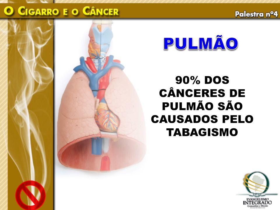 90% DOS CÂNCERES DE PULMÃO SÃO CAUSADOS PELO TABAGISMO