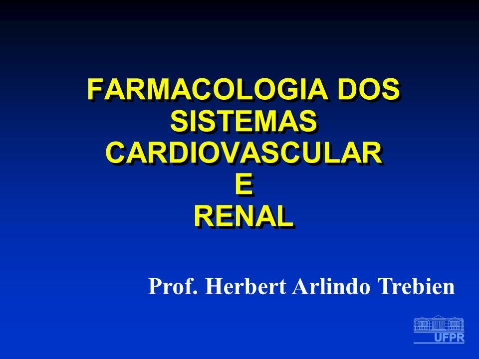 FARMACOLOGIA DOS SISTEMAS CARDIOVASCULAR E RENAL Prof. Herbert Arlindo Trebien