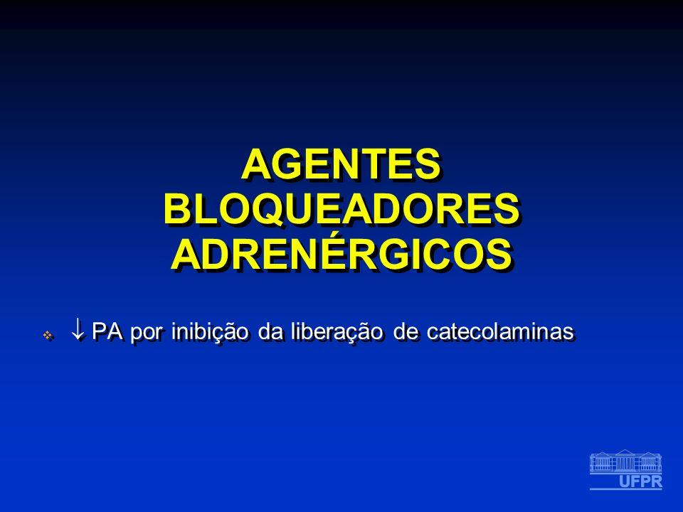 AGENTES BLOQUEADORES ADRENÉRGICOS PA por inibição da liberação de catecolaminas