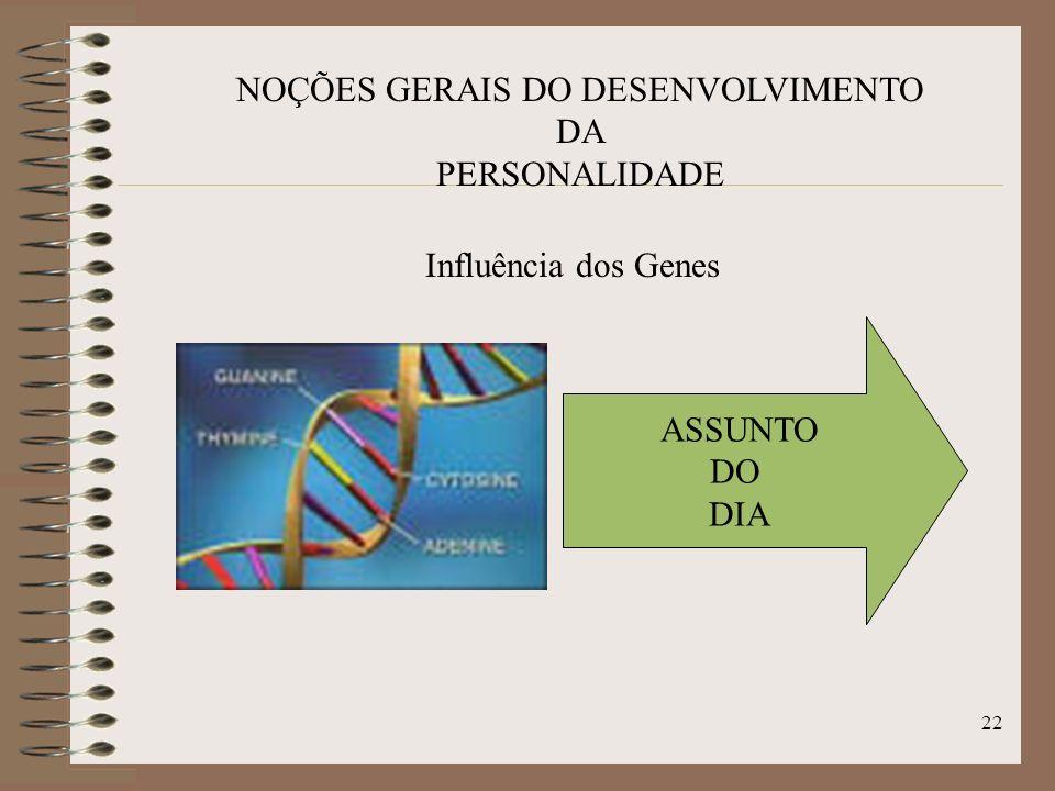 21 NOÇÕES GERAIS DO DESENVOLVIMENTO DA PERSONALIDADE Fórmula de Freud: P = H (G + IU + p) + VI., onde H = hereditário; G = genético; IU = intrauterino