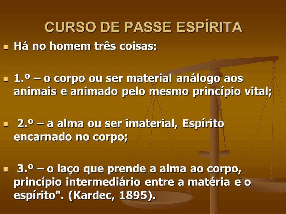 CURSO DE PASSE ESPÍRITA 3.8 - CORPO, ESPÍRITO E PERISPÍRITO 3.8 - CORPO, ESPÍRITO E PERISPÍRITO O homem está no mundo, mas não é do mundo.