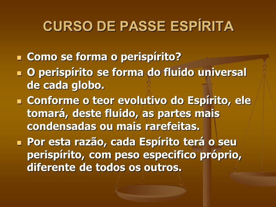 CURSO DE PASSE ESPÍRITA O perispírito tem forma.O perispírito tem forma.