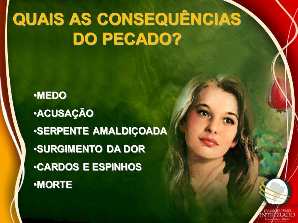 QUAIS AS CONSEQUÊNCIAS DO PECADO.