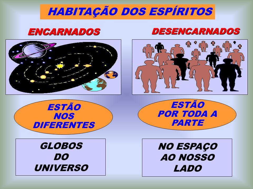 ESTÃO POR TODA A PARTE HABITAÇÃO DOS ESPÍRITOS ENCARNADOS DESENCARNADOS ESTÃO NOS DIFERENTES GLOBOS DO UNIVERSO NO ESPAÇO AO NOSSO LADO
