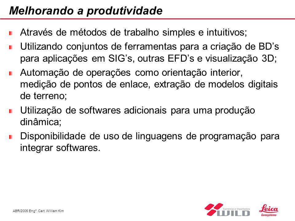ABR/2005 Eng°. Cart. William Kim Melhorando a produtividade Através de métodos de trabalho simples e intuitivos; Utilizando conjuntos de ferramentas p