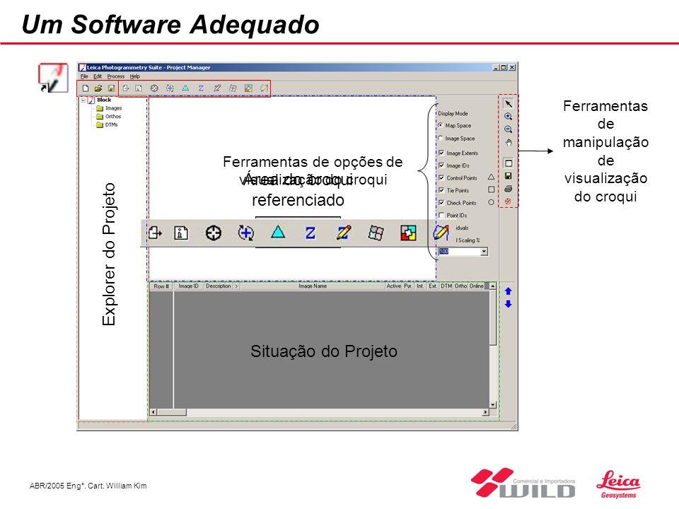 ABR/2005 Eng°. Cart. William Kim Um Software Adequado Área do croqui referenciado Ferramentas de opções de visualização do croqui Ferramentas de manip