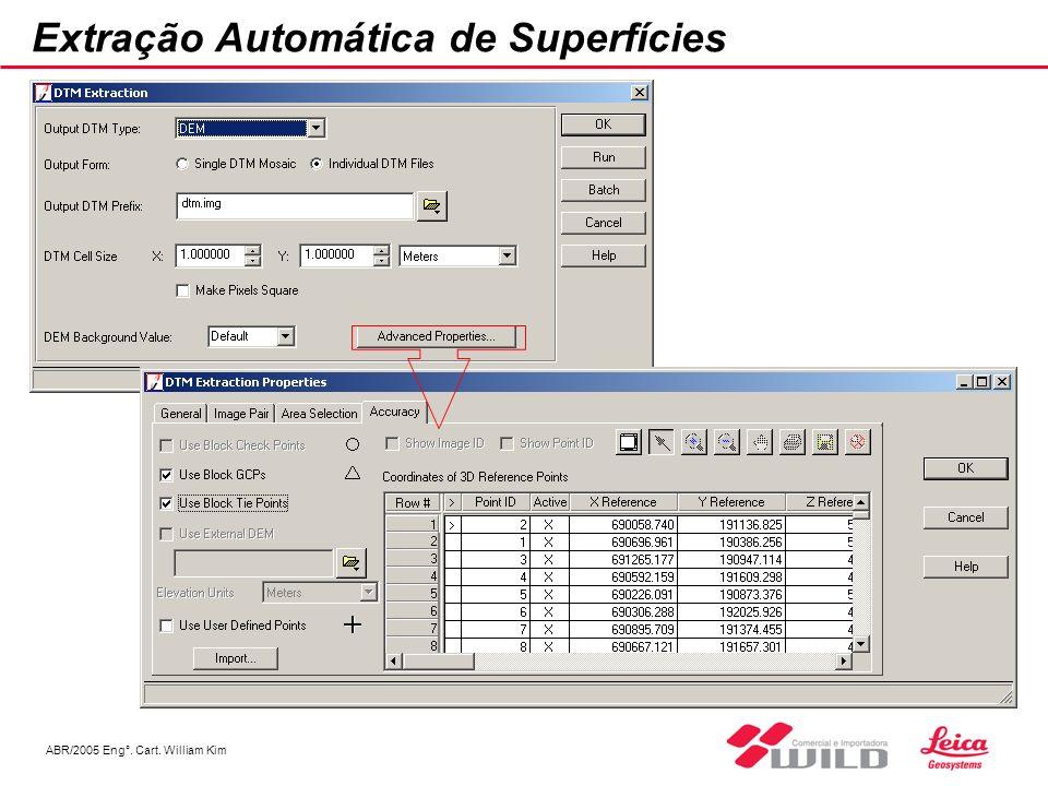 ABR/2005 Eng°. Cart. William Kim Extração Automática de Superfícies