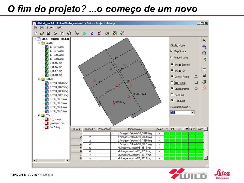 ABR/2005 Eng°. Cart. William Kim O fim do projeto?...o começo de um novo