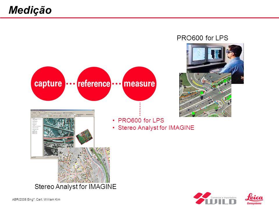 ABR/2005 Eng°. Cart. William Kim Medição PRO600 for LPS Stereo Analyst for IMAGINE PRO600 for LPS Stereo Analyst for IMAGINE