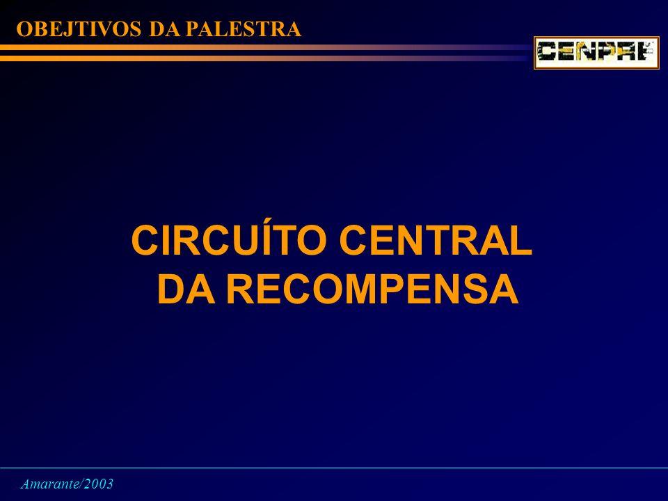 OBEJTIVOS DA PALESTRA CIRCUÍTO CENTRAL DA RECOMPENSA Amarante/2003