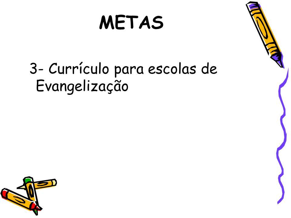 METAS 3- Currículo para escolas de Evangelização