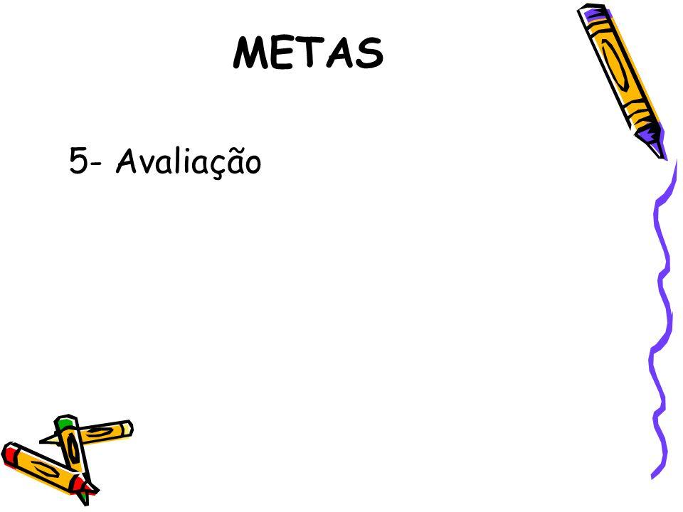METAS 5- Avaliação