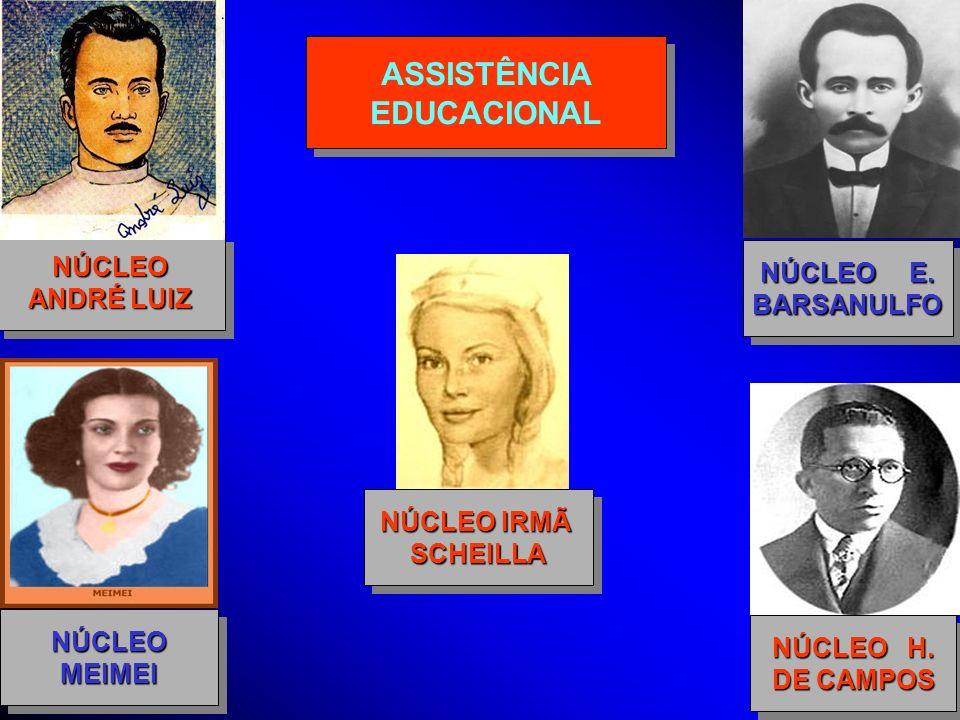 ASSISTÊNCIA EDUCACIONAL ASSISTÊNCIA EDUCACIONAL NÚCLEO ANDRÉ LUIZ NÚCLEO NÚCLEO H. DE CAMPOS NÚCLEO H. DE CAMPOS NÚCLEO E. BARSANULFO BARSANULFO NÚCLE