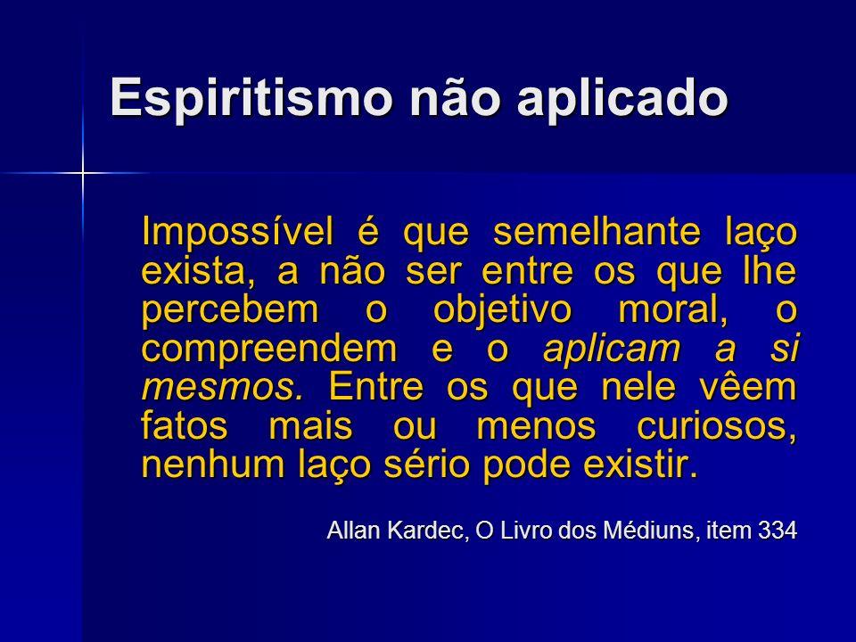Espiritismo não compreendido O Espiritismo, que apenas acaba de nascer, ainda é diversamente apreciado e muito pouco compreendido em sua essência, por