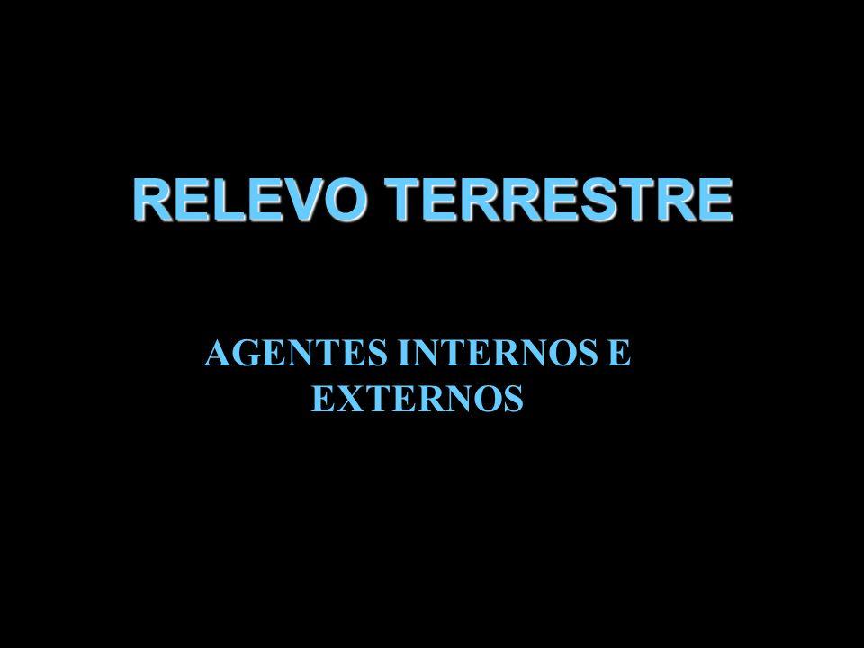 RELEVO TERRESTRE AGENTES INTERNOS E EXTERNOS