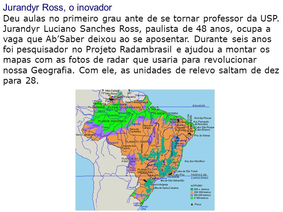 Jurandyr Ross, o inovador Deu aulas no primeiro grau ante de se tornar professor da USP. Jurandyr Luciano Sanches Ross, paulista de 48 anos, ocupa a v