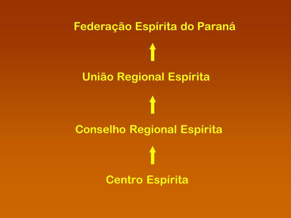 Centro Espírita Conselho Regional Espírita União Regional Espírita Federação Espírita do Paraná