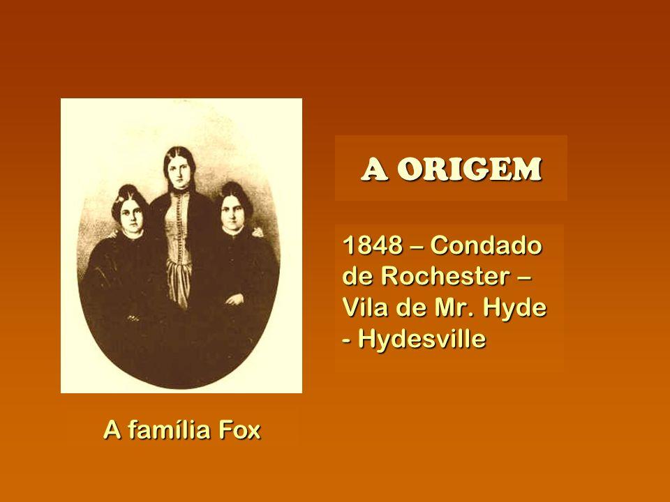 A ORIGEM 1848 – Condado de Rochester – Vila de Mr. Hyde - Hydesville A família Fox
