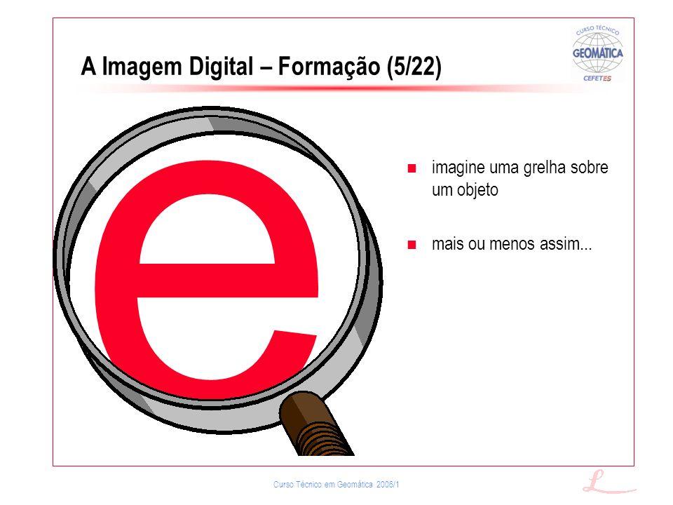 Curso Técnico em Geomática 2006/1 e imagine uma grelha sobre um objeto mais ou menos assim... A Imagem Digital – Formação (5/22)