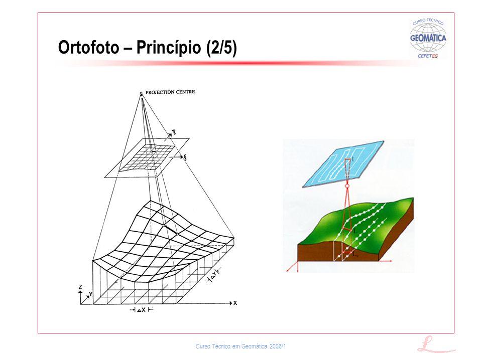 Curso Técnico em Geomática 2006/1 Ortofoto – Princípio (2/5)