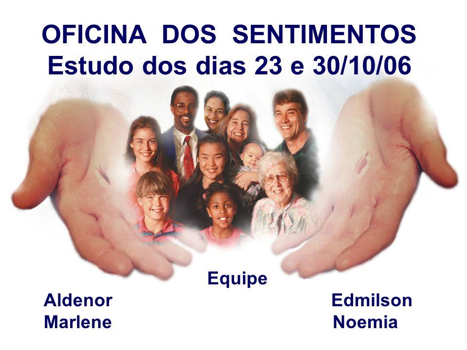 OFICINA DOS SENTIMENTOS Estudo dos dias 23 e 30/10/06 Equipe Aldenor Edmilson Marlene Noemia
