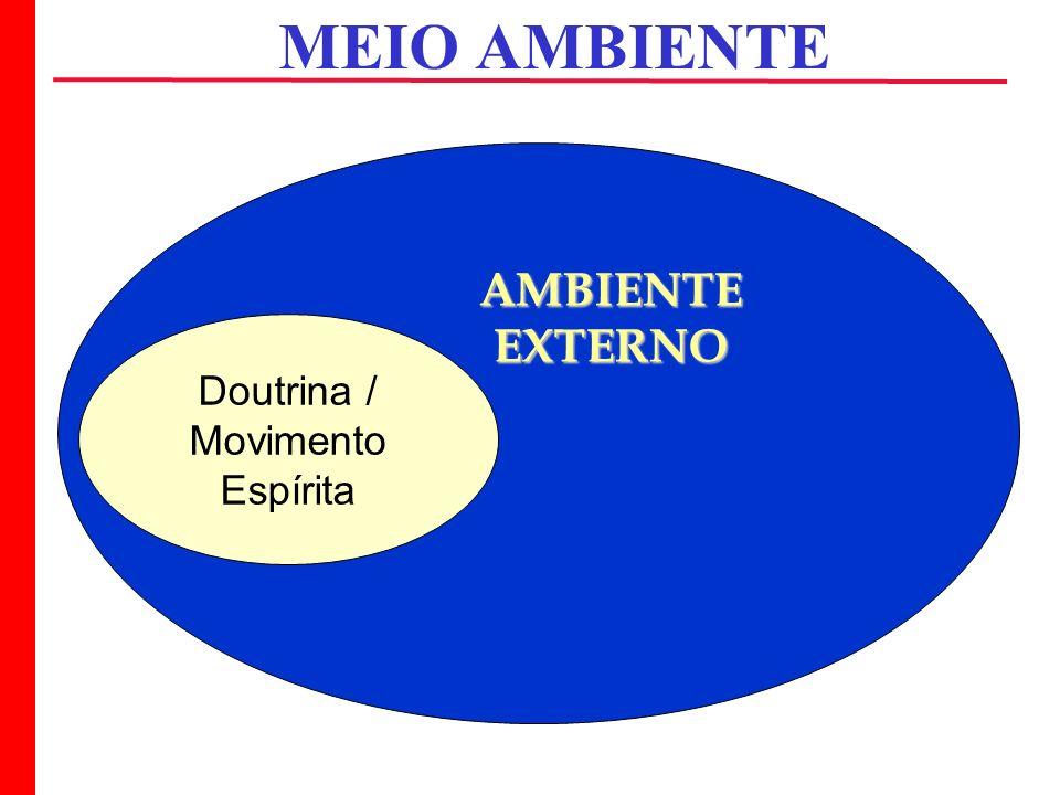 MEIO AMBIENTE Doutrina / Movimento Espírita AMBIENTEEXTERNO