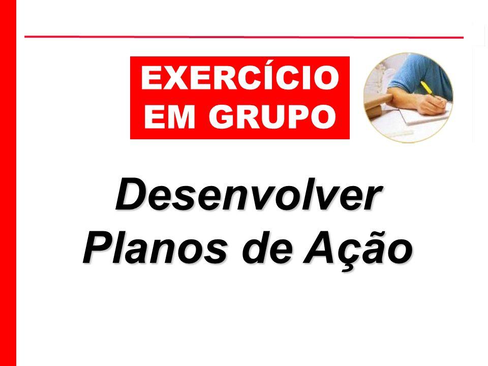 EXERCÍCIO EM GRUPO Desenvolver Planos de Ação