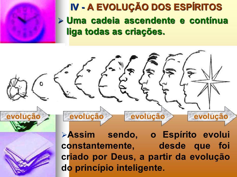 III - A EVOLUÇÃO DO PRINCÍPIO INTELIGENTE III - A EVOLUÇÃO DO PRINCÍPIO INTELIGENTE O Princípio Inteligente evolui, apreendendo com a evolução da maté