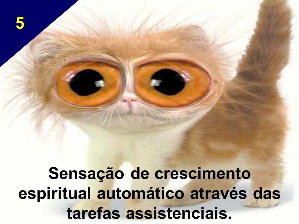 Sensação de crescimento espiritual automático através das tarefas assistenciais. 5