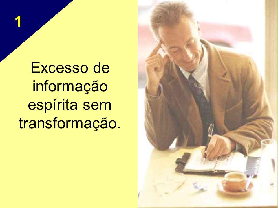 Excesso de informação espírita sem transformação. 1