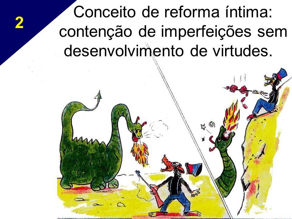2 Conceito de reforma íntima: contenção de imperfeições sem desenvolvimento de virtudes.