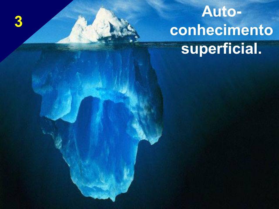 Auto- conhecimento superficial. 3