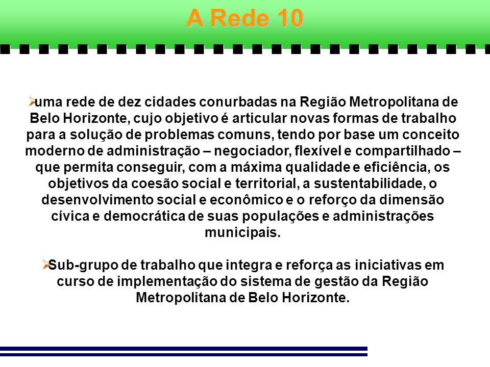 uma rede de dez cidades conurbadas na Região Metropolitana de Belo Horizonte, cujo objetivo é articular novas formas de trabalho para a solução de pro