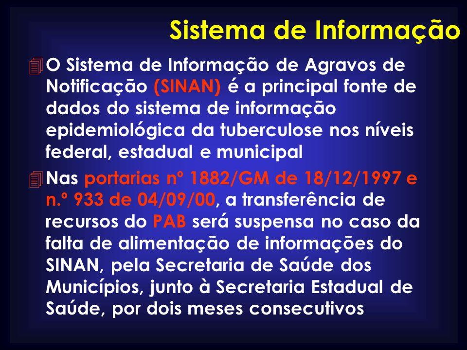 Sistema de Informação 4 O Sistema de Informação de Agravos de Notificação (SINAN) é a principal fonte de dados do sistema de informação epidemiológica