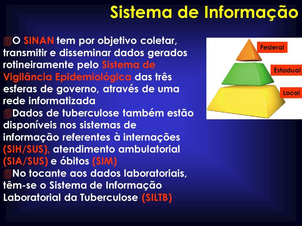 4 O SINAN tem por objetivo coletar, transmitir e disseminar dados gerados rotineiramente pelo Sistema de Vigilância Epidemiológica das três esferas de