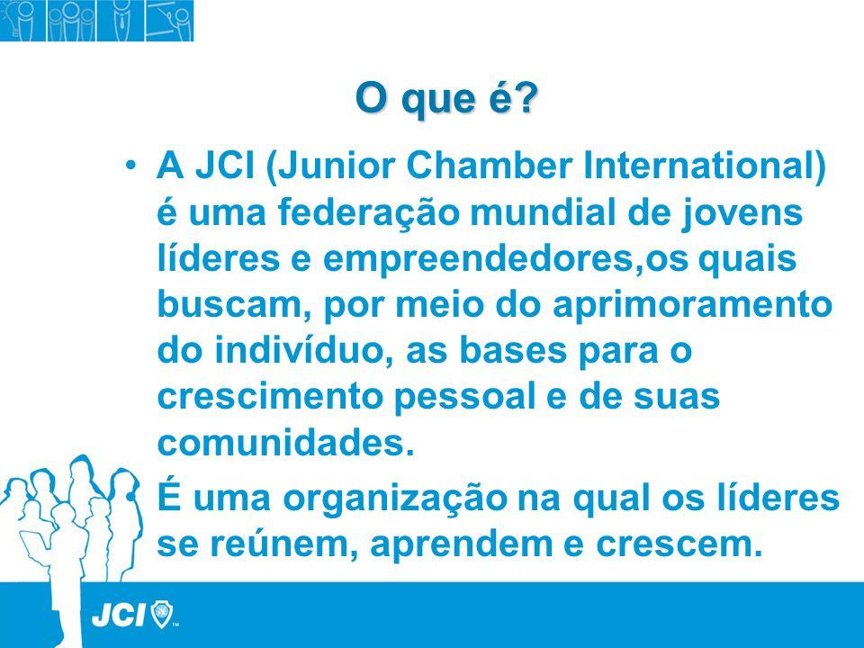 O que é a JCI.O que é a JCI. Uma Federação mundial de jovens líderes e empreendedores.
