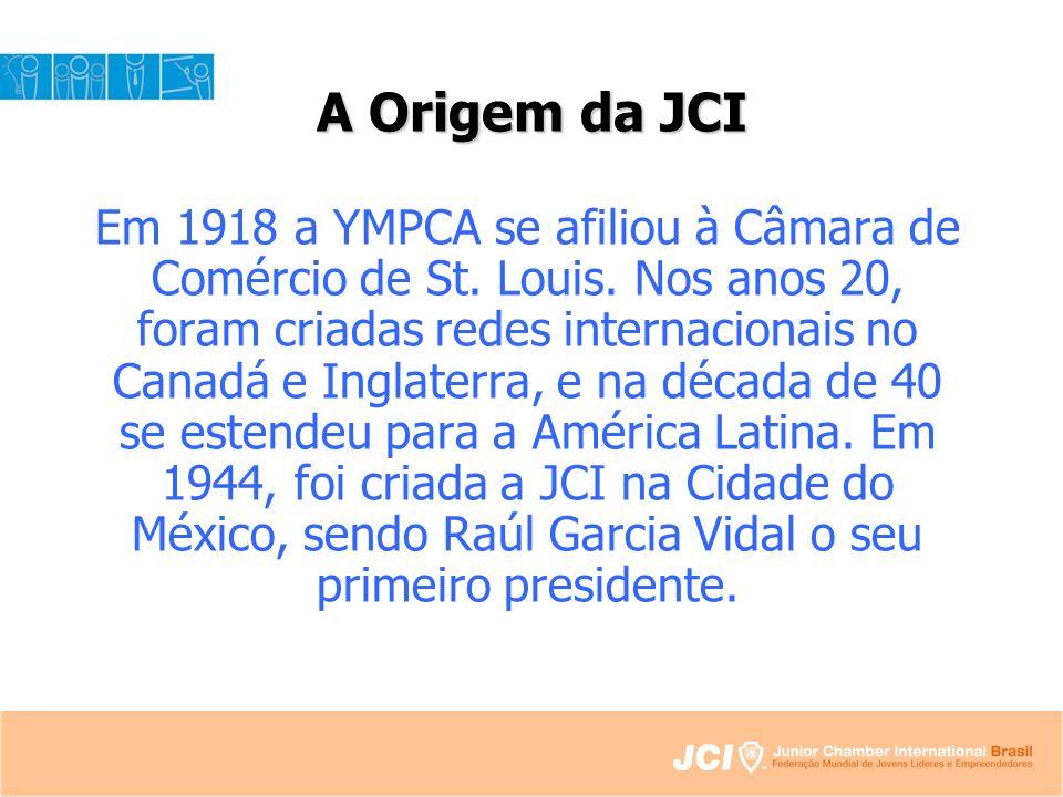 A Origem da JCI Em 1918 a YMPCA se afiliou à Câmara de Comércio de St.