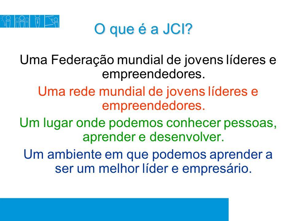 O que é a JCI. O que é a JCI. Uma Federação mundial de jovens líderes e empreendedores.